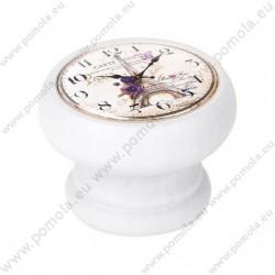 450BL21 ΠΟΜΟΛΑ Vintage Ρολόι ΛΕΥΚΗ ΛΑΚΑ