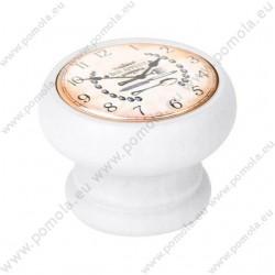 450BL22 ΠΟΜΟΛΑ ΒΙΝΤΑΖ Vintage Ρολόι ΛΕΥΚΗ ΛΑΚΑ