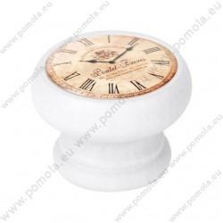 450BL24 ΠΟΜΟΛΑ ΒΙΝΤΑΖ Vintage Ρολόι ΛΕΥΚΗ ΛΑΚΑ