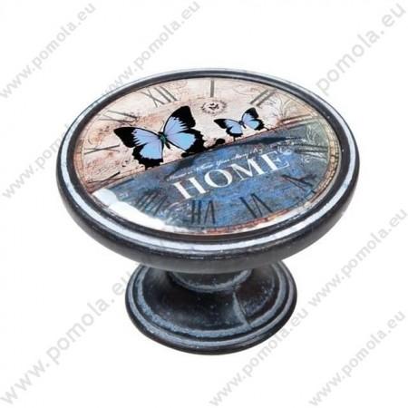 550NF25 ΠΟΜΟΛΑ ΒΙΝΤΑΖ Vintage Ρολόι ΠΑΤΙΝΑ ΣΚΟΥΡΙΑ