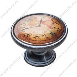 550NF04 ΠΟΜΟΛΑ Vintage Ρολόι ΠΑΤΙΝΑ ΣΚΟΥΡΙΑ