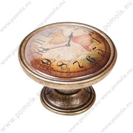 550BR04 ΠΟΜΟΛΑ Vintage Ρολόι ΜΠΡΟΝΖΕ