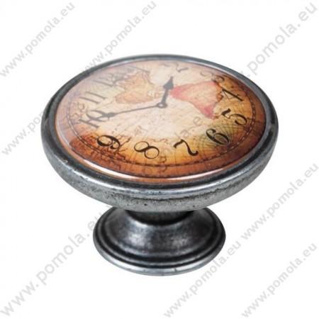550PT04 ΠΟΜΟΛΑ Vintage Ρολόι ΑΣΗΜΙ ΑΝΤΙΚΕ