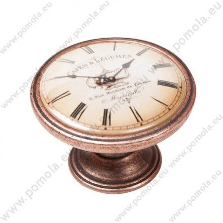 550CB06 ΠΟΜΟΛΑ Vintage Ρολόι ΧΑΛΚΟΣ