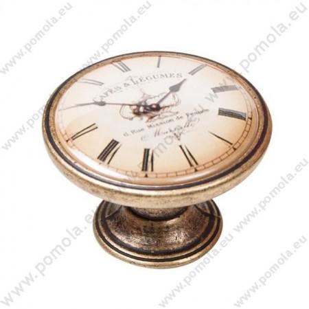 550BR06 ΠΟΜΟΛΑ Vintage Ρολόι ΜΠΡΟΝΖΕ
